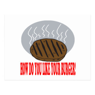 How Do You Like Your Burger Postcard