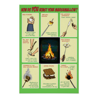 How do you roast your marshmallow campfire poster