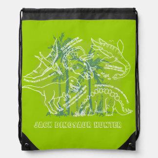 How do you say dinosaur green named drawstring bag