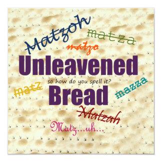How Do You Spell Matzoh Seder Invitation