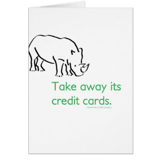 How do you stop a Rhino from Charging? Card
