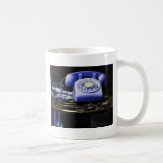 how do you text on this thing blue classic white coffee mug