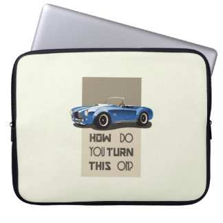 How do you turn this on blue cobra car computer sleeve