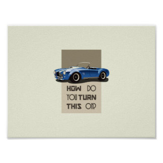 How do you turn this on blue cobra car poster