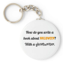 How do you write a book about Halloween? With a gh Keychain