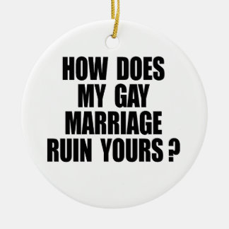 HOW DOES MY MARRIAGE RUIN YOURS? CHRISTMAS ORNAMENTS
