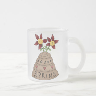 How Does Your Garden Grow · Beehive Frosted Glass Coffee Mug