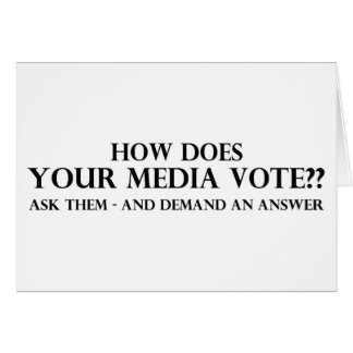 How Does Your Media Vote Card