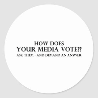 How Does Your Media Vote Classic Round Sticker