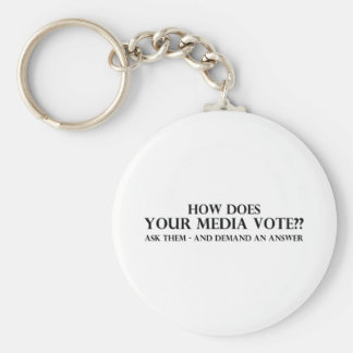 How Does Your Media Vote Keychain