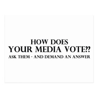 How Does Your Media Vote Postcard