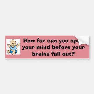 How far can you open your mind bumper sticker car bumper sticker