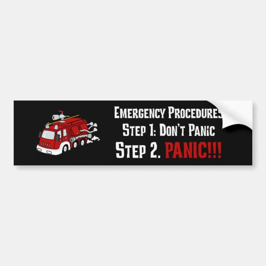 How Firefighters Respond to Your Emergency Bumper Sticker