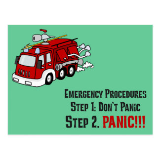 How Firefighters Respond to Your Emergency Post Cards