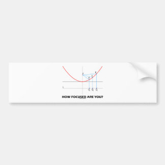 How Focused Are You? (Parabola Graph) Bumper Sticker