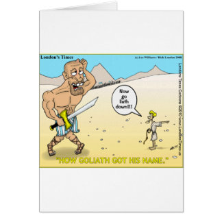How Goliath Got His Name Funny Mugs Tees & Gifts Card