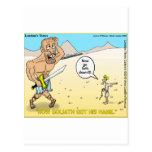 How Goliath Got His Name Funny Mugs Tees & Gifts Postcard