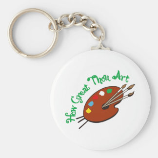 How Great Thou Art Basic Round Button Keychain