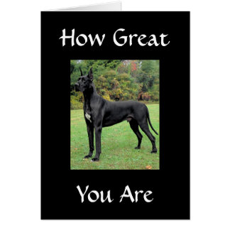 """""""HOW GREAT U ARE-HOW LUCK I AM"""" THANKS CARD"""