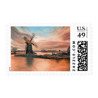 How HIll Windmill Postage Stamp