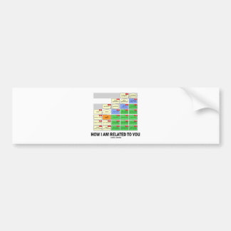 How I Am Related To You (Cousin Tree Genetic Kin) Bumper Sticker