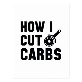 How I Cut Carbs Postcard