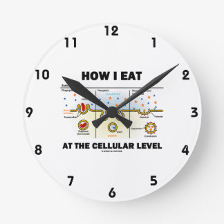How I Eat At The Cellular Level (Endocytosis) Round Clocks