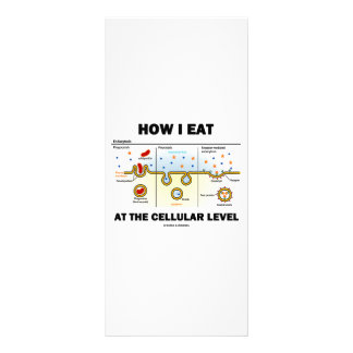 How I Eat At The Cellular Level (Endocytosis) Personalized Rack Card