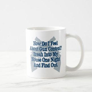 How I Feel About Gun Control Classic White Coffee Mug