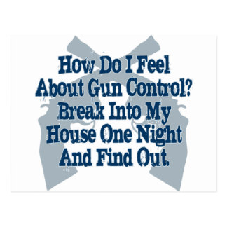 How I Feel About Gun Control Postcard