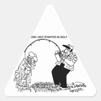 How I got started in golf! Triangle Sticker
