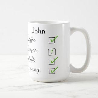 How I like my coffee personalized mug