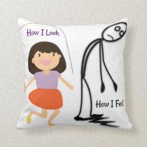 How I Look How I Feel Throw Pillow