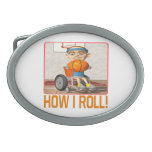 How I Roll 3 Oval Belt Buckles
