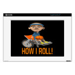 How I Roll 4 Laptop Decal