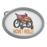 How I Roll 5 Oval Belt Buckles