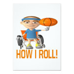 How I Roll 5x7 Paper Invitation Card