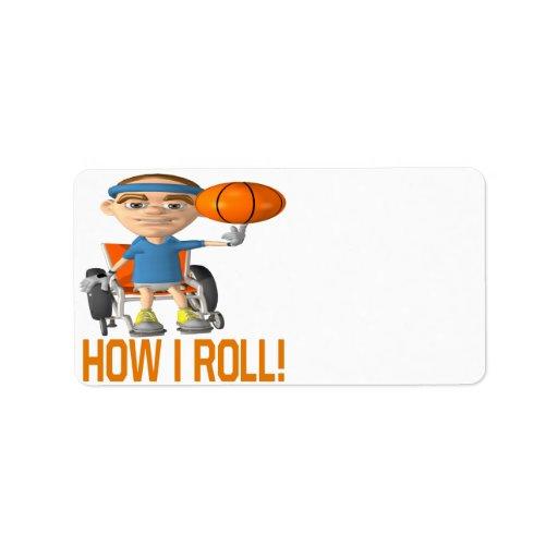 How I Roll Address Label