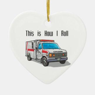 How I Roll Ambulance Ceramic Ornament