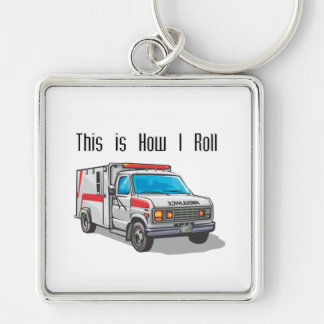 How I Roll Ambulance Key Chains