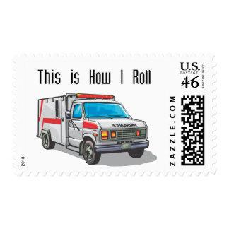 How I Roll Ambulance Postage Stamp