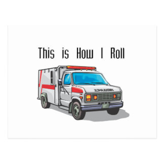 How I Roll Ambulance Postcard