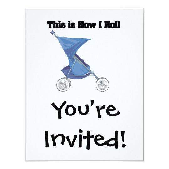 How I Roll (Baby Stroller) Card