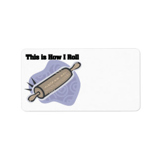 How I Roll (Baker's Rolling Pin) Label