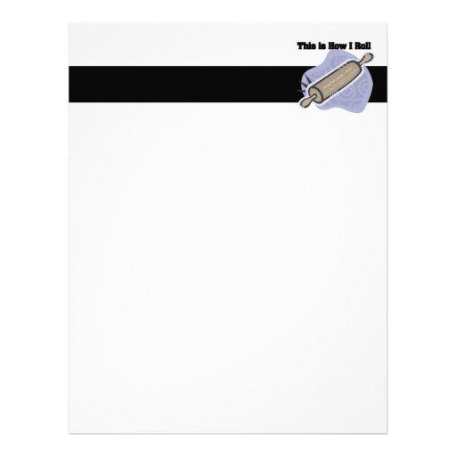 How I Roll (Baker's Rolling Pin) Letterhead Design
