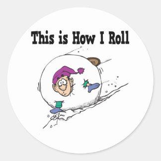 How I Roll Big Snowball Sticker