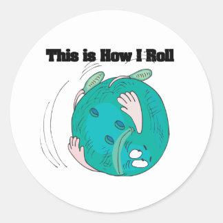 How I Roll (Bowling Ball) Sticker