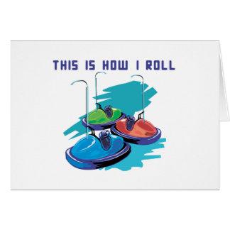 How I Roll (Bumper Cars) Greeting Card