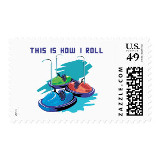 How I Roll (Bumper Cars) Postage Stamp