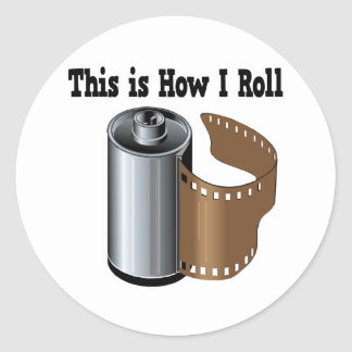 How I Roll Camera Film Classic Round Sticker